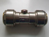 Chrome 22mm Pushfit Ballofix Isolation Valve - 07912201